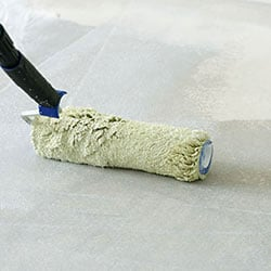 non-slip floor with pumice grit in paint