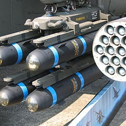 munitions are typically packed in blast-attentuating containers